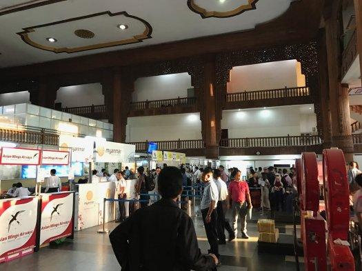 Check in at Yangon Domestic Terminal