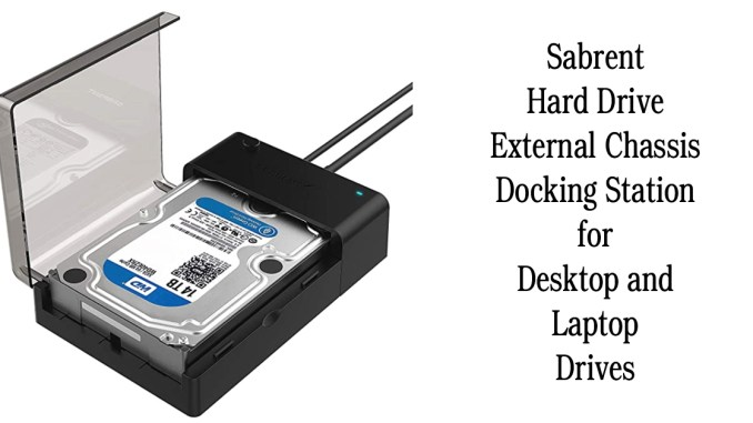 Sabrent Hard Drive External Chassis Docking Station for Desktop and Laptop Drives