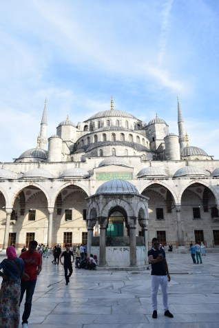The famous Blue Mosque or Sultanahmet mosque