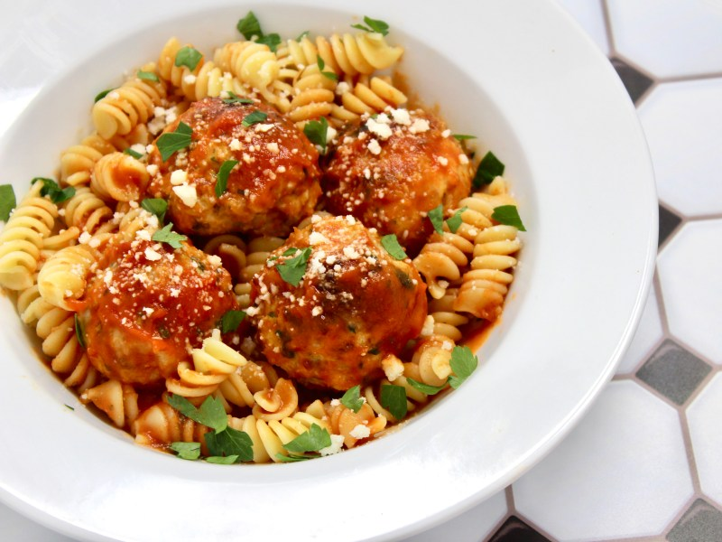 Chicken, Spinach, and Cheese Meatballs