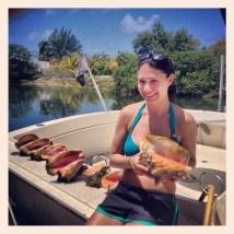 Successful conch dive