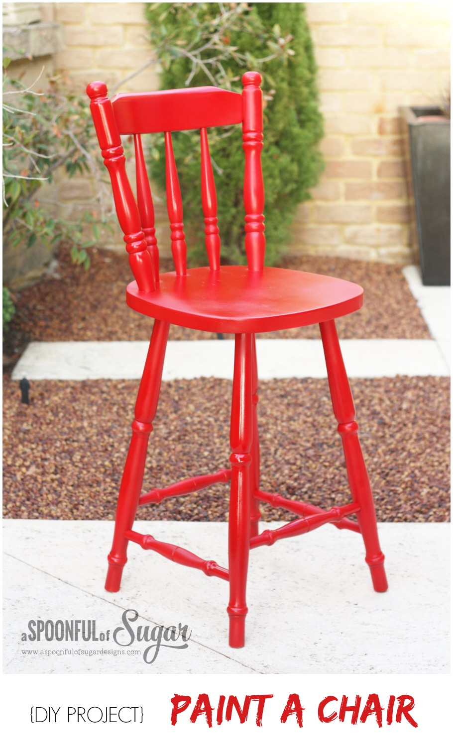 diy painted windsor chairs club leather swivel transform an old wooden chair part 2 a spoonful of sugar paint