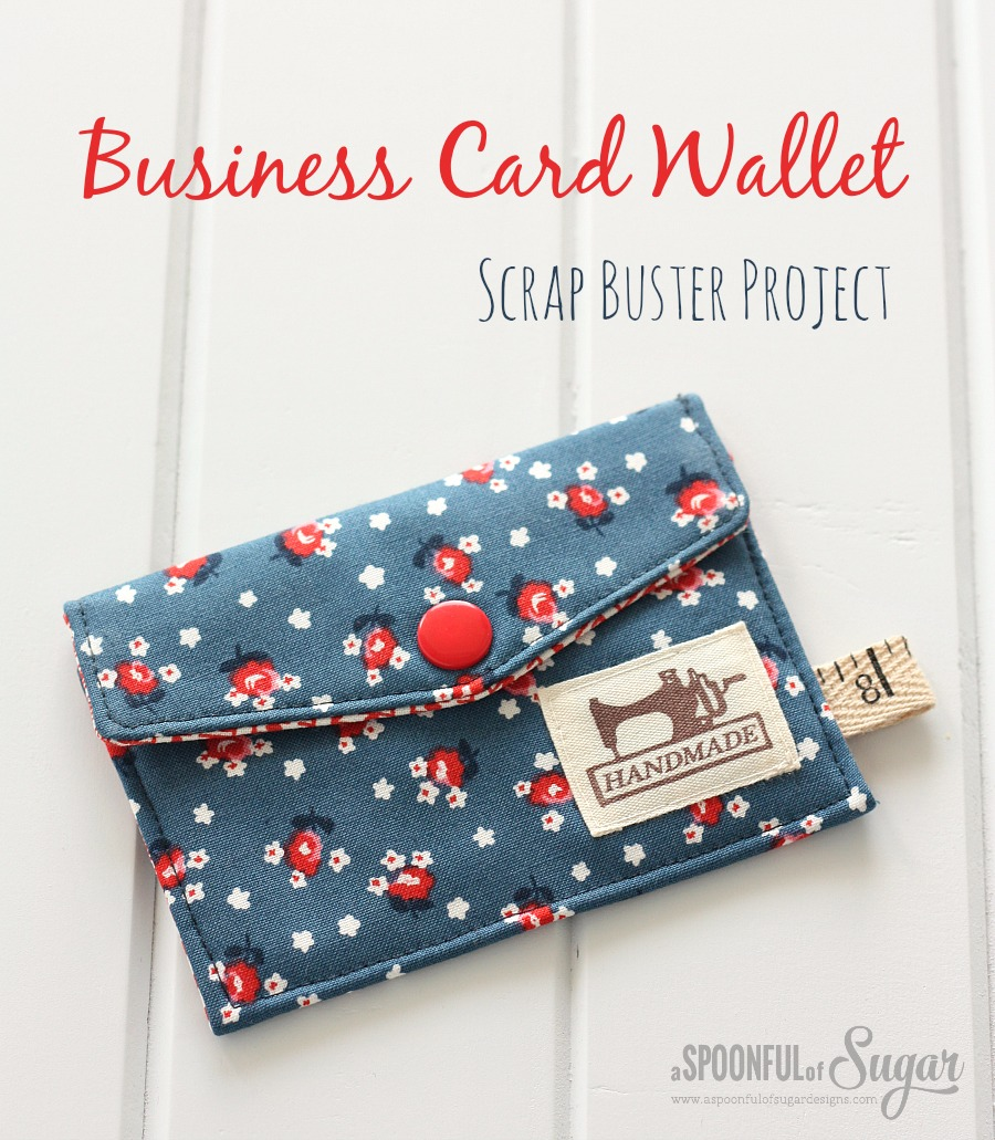 Business card wallet a spoonful of sugar business card wallet scrap buster project reheart Choice Image