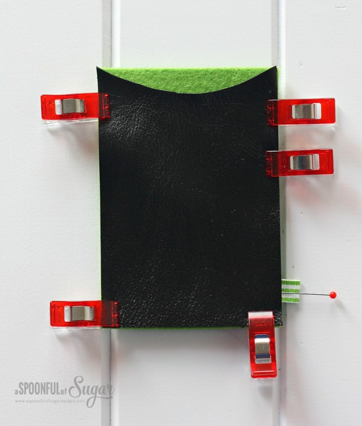 How to make a leather and felt business card holder