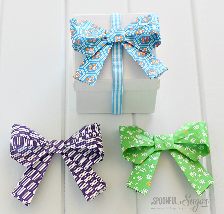 Trio of Origami Bows