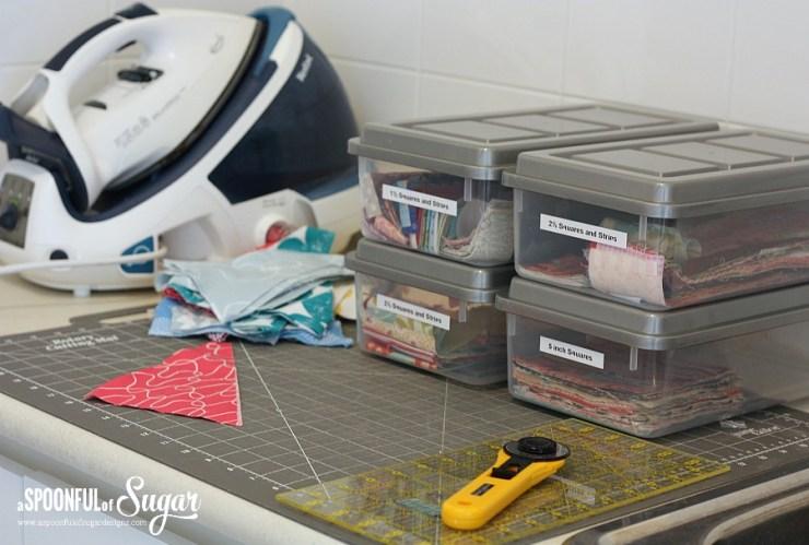 Organise your fabric scraps