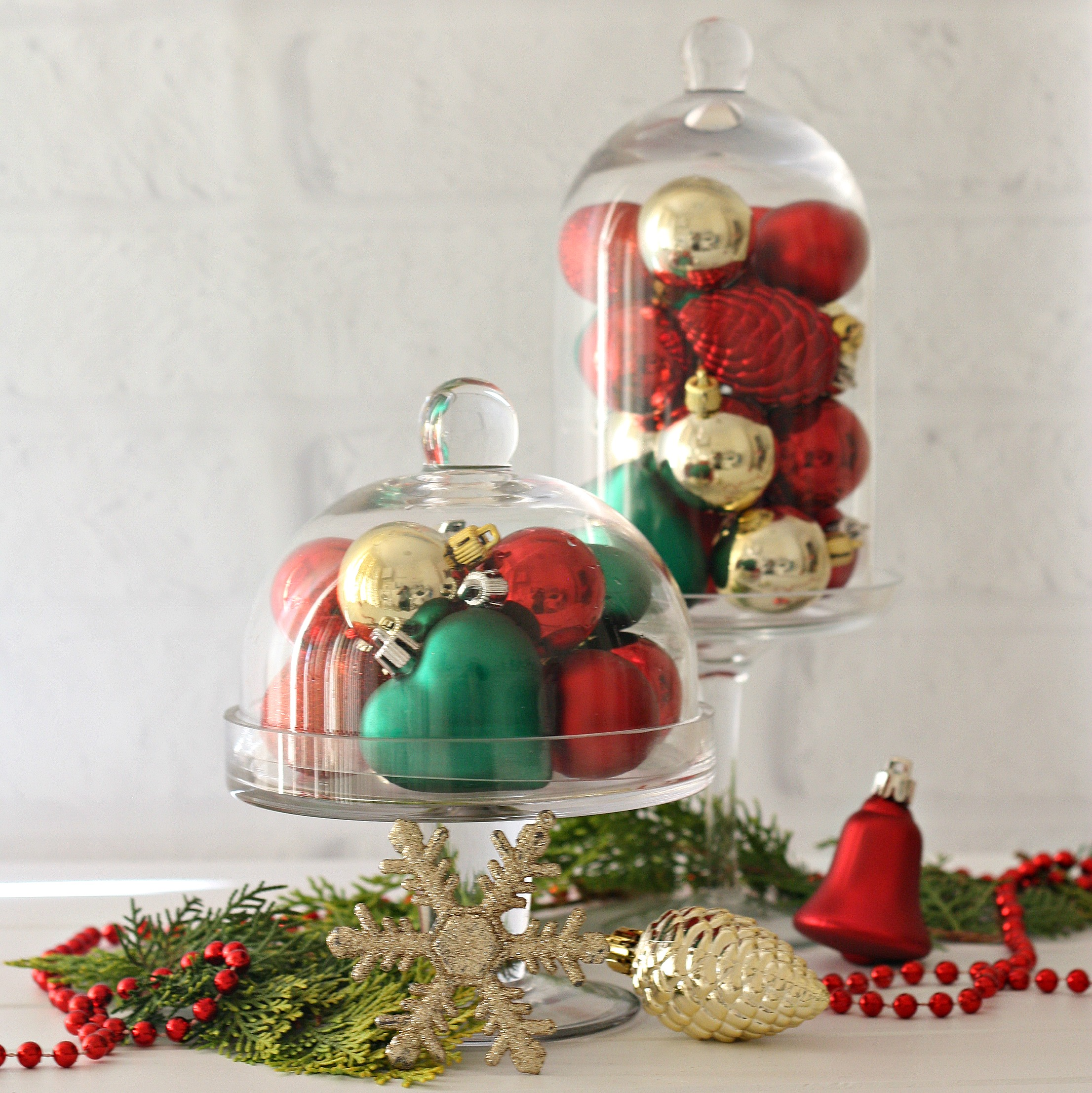 Uncategorized christmas decorations amp holiday decorations - Display Baubles In Cloche Timeless Christmas Decorations