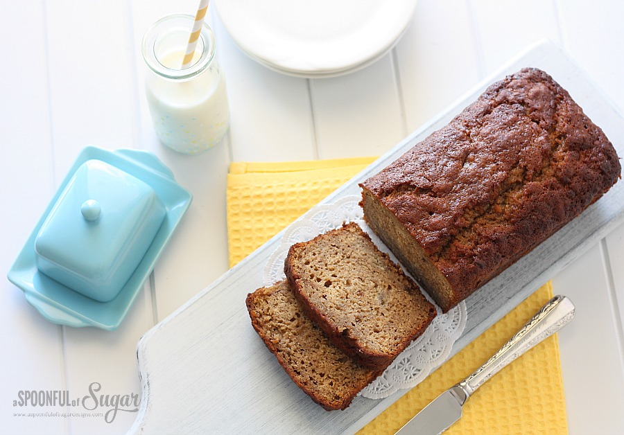 Easy Banana  Bread Recipe by A Spoonful of Sugar