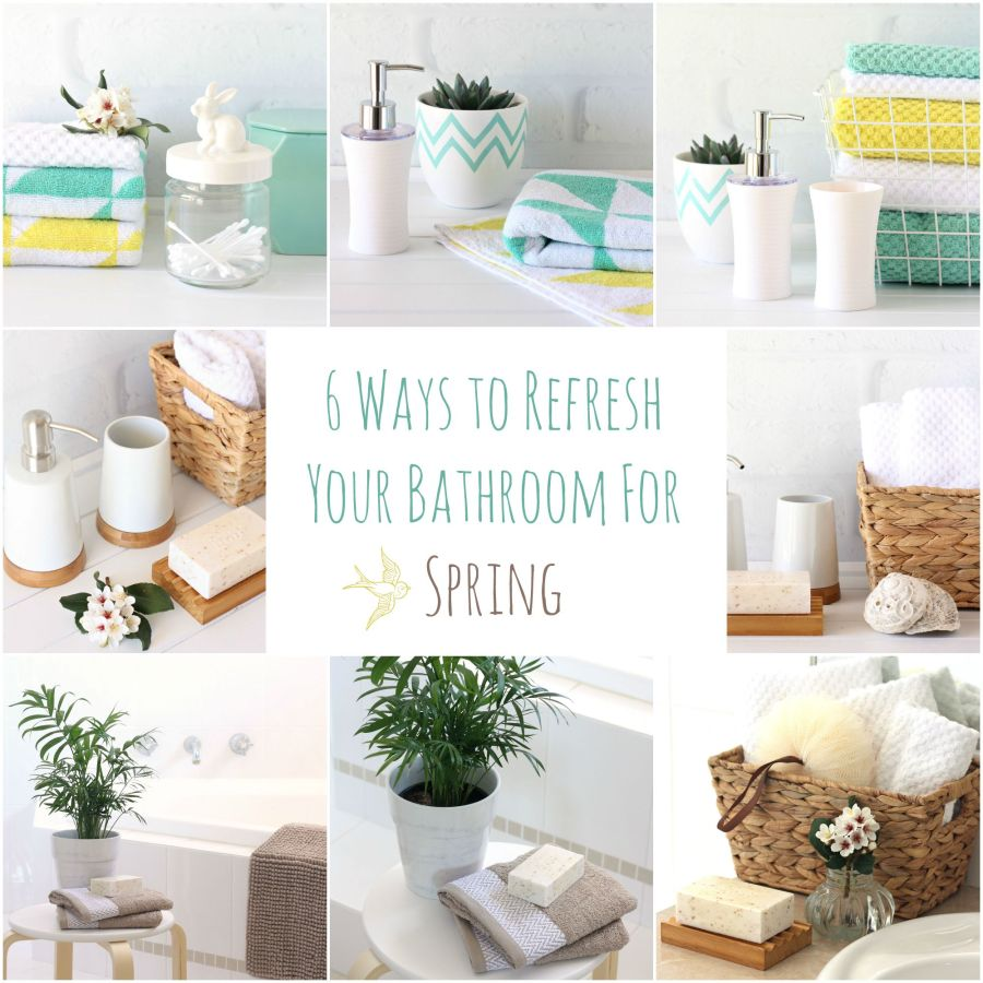 6 ways to refresh your bathroom for spring a spoonful of for Spring bathroom decor