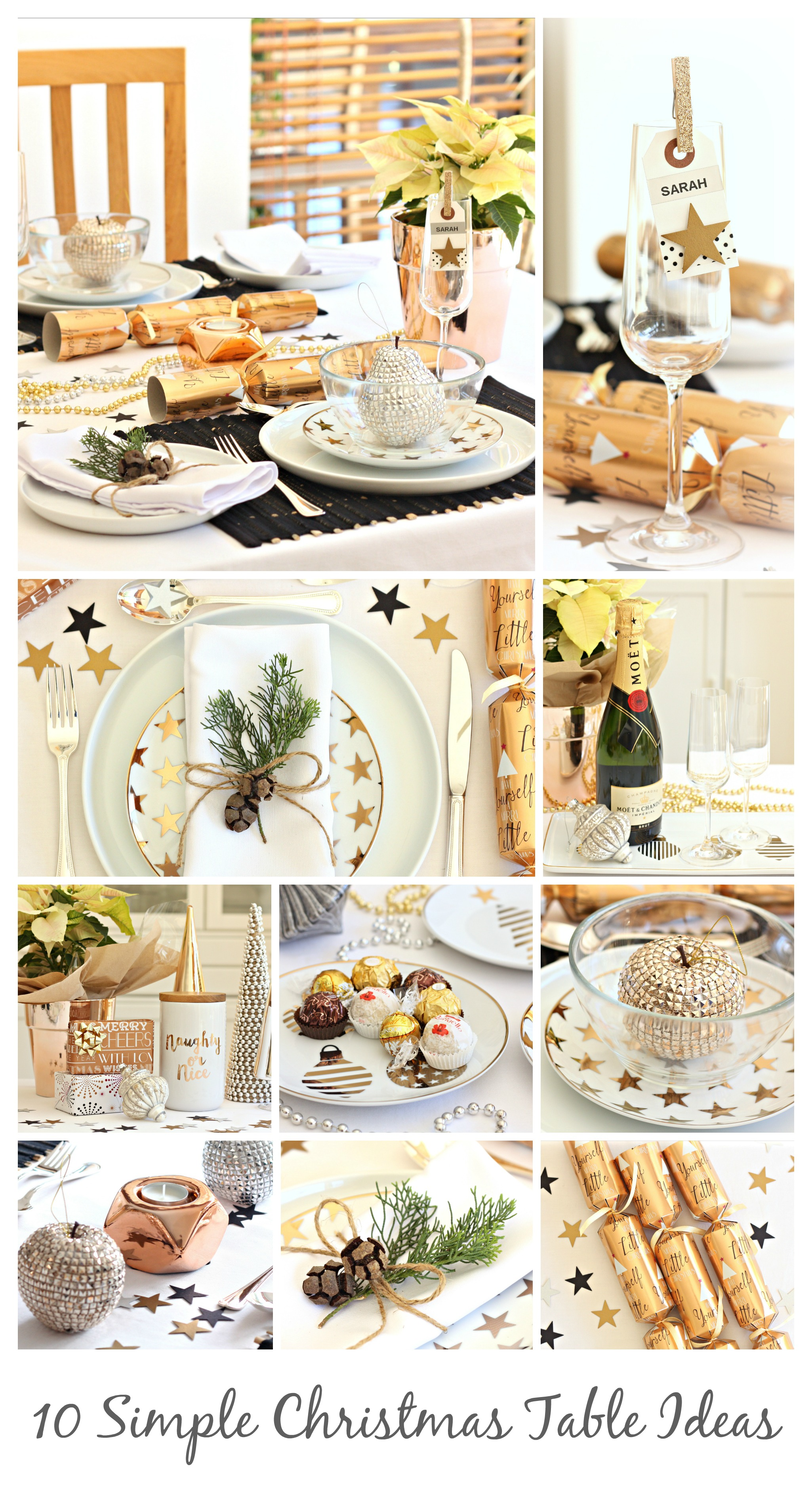 10 simple christmas table ideas a spoonful of sugar for Simple christmas table decorations