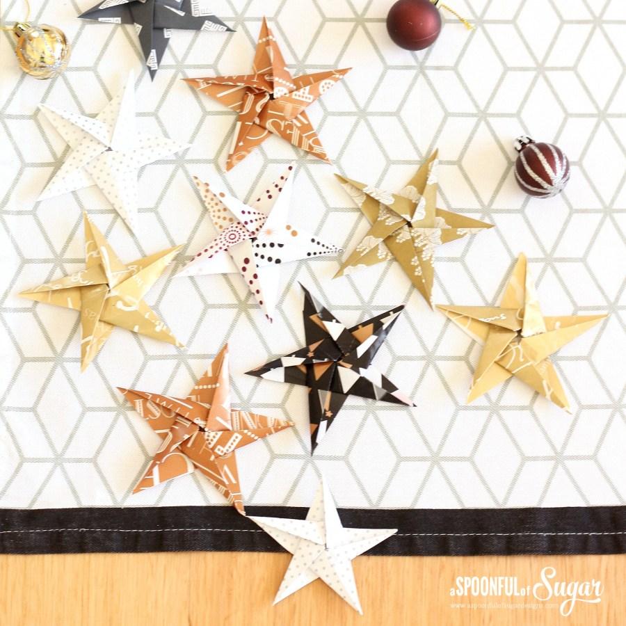 Origami Stars - www.aspoonfulofsugardesigns.com