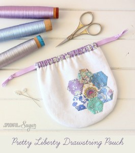Pretty Liberty Drawstring Pouch 7