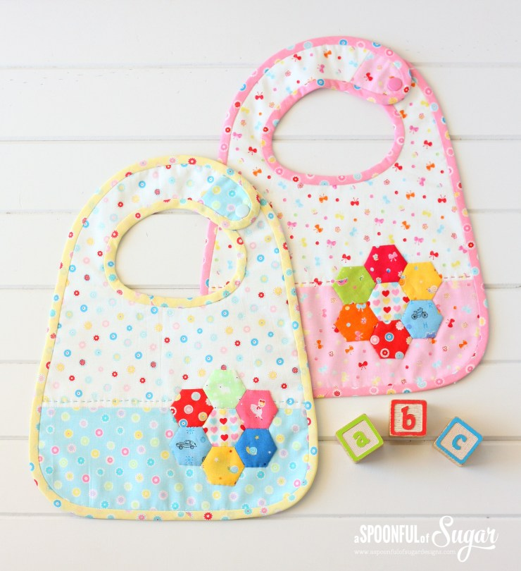 Hexagon Baby Bibs