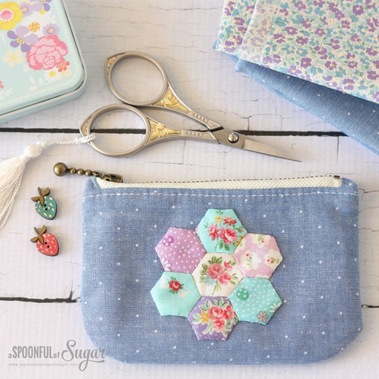 Hexie Zippered Pouch
