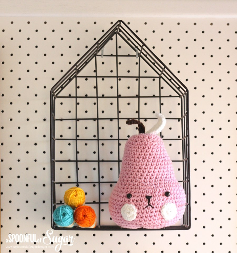 Sewing room pegboard / inspiration board