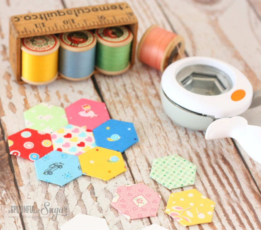 English Paper Piecing is easy using the Fiskars Easy Squeeze punch