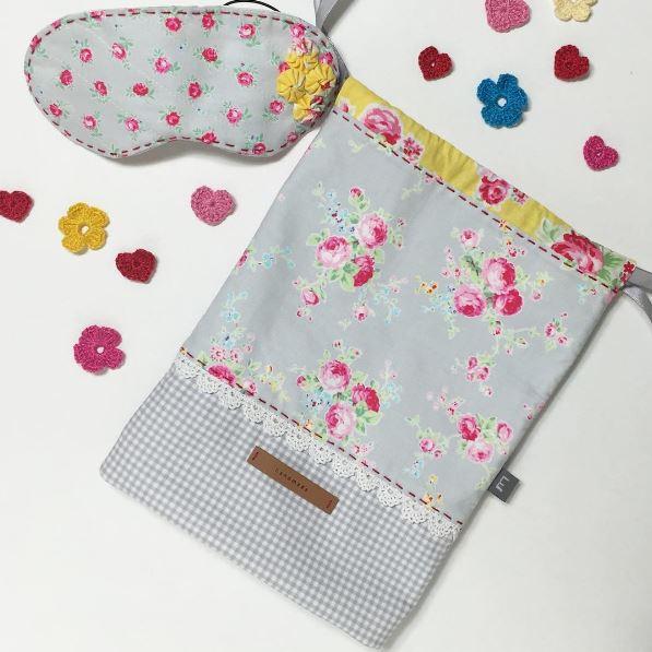 Drawstring Bag and Sleep mask
