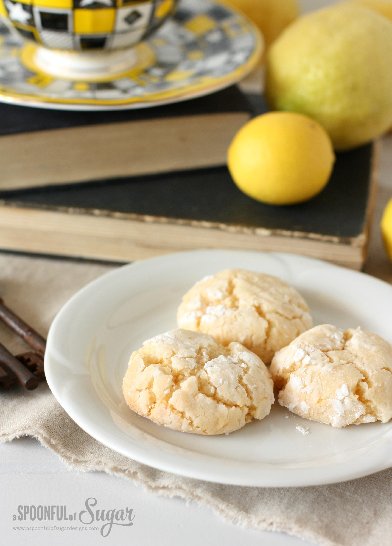 Easy lemon crinkle cookies recipe