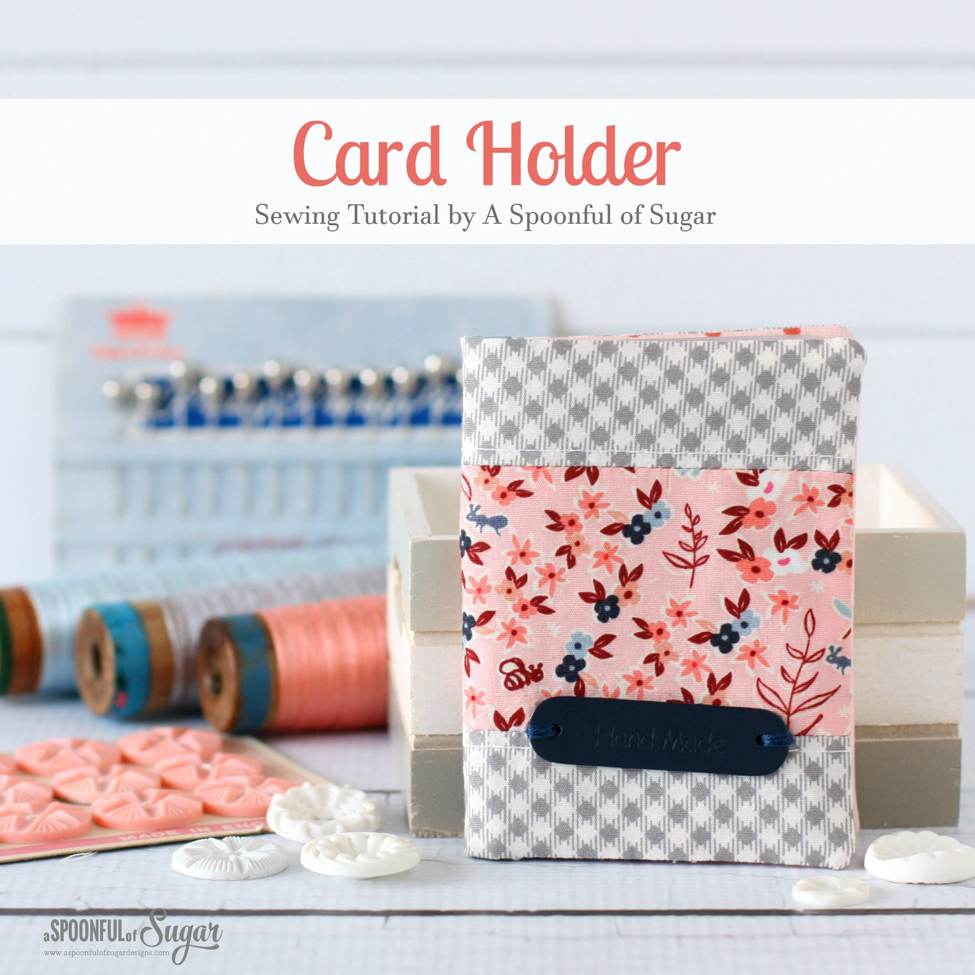 How to sew a card holder a spoonful of sugar bloglovin how to sew a card holder reheart Image collections