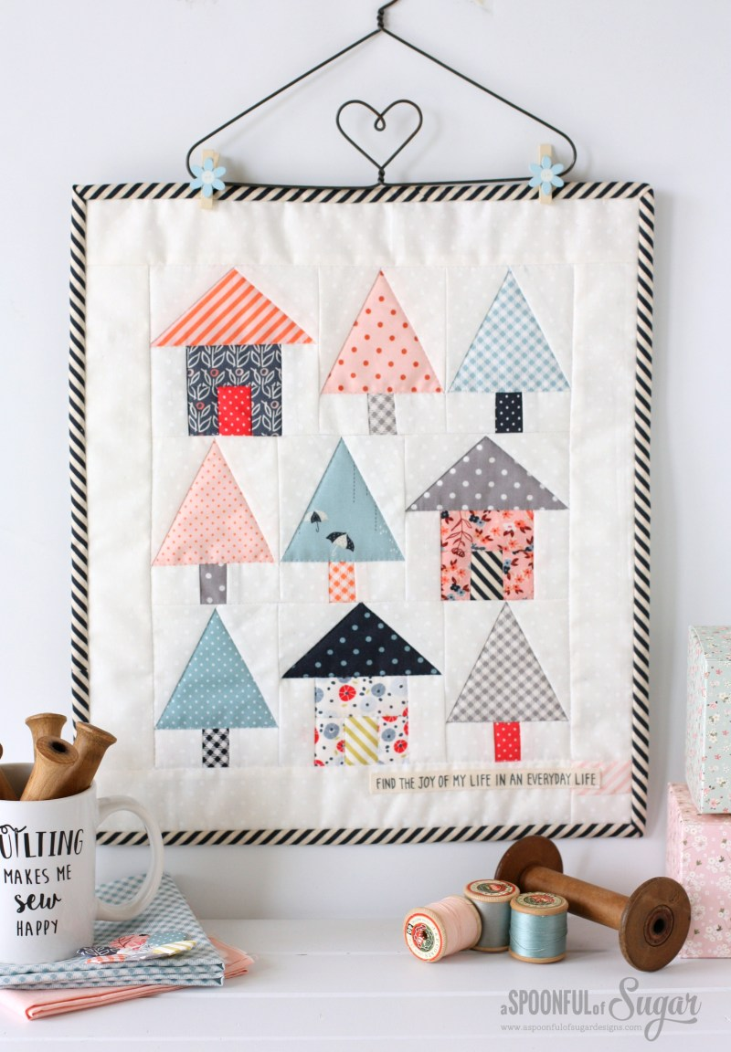 Avenues Mini Quilt from Weekend Quilting