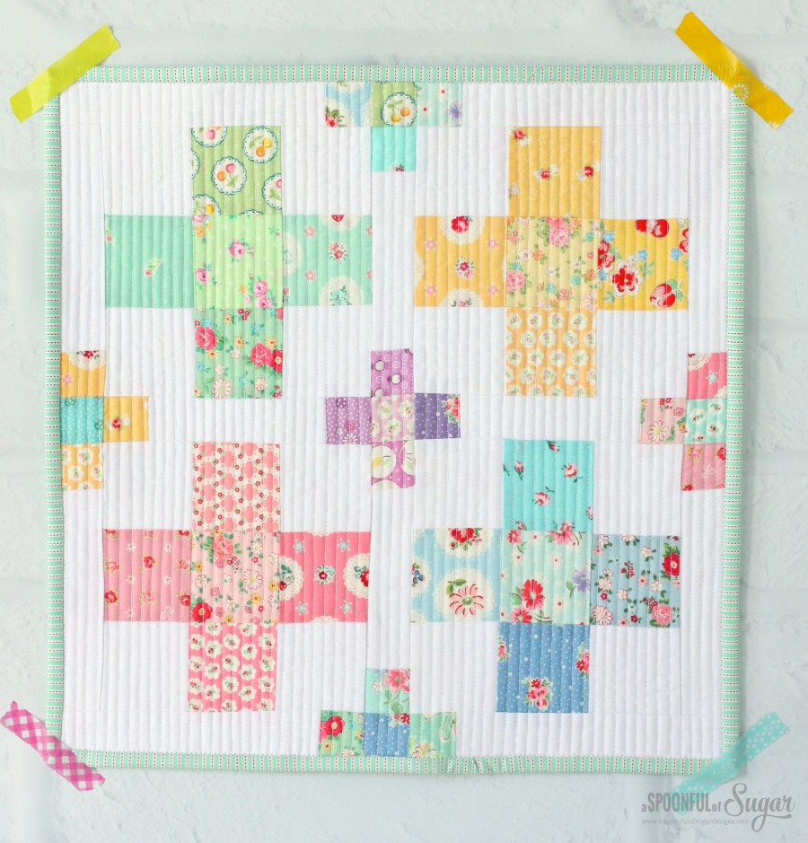 Square Peg Mini Quilt