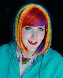 rainbow-wig