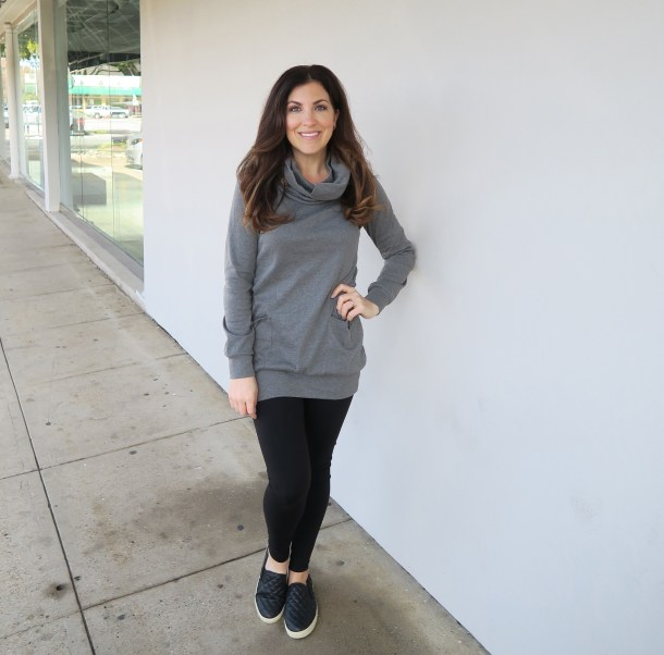 884c57e3383e30 Cowl Neck Tunic with the Best Leggings!!