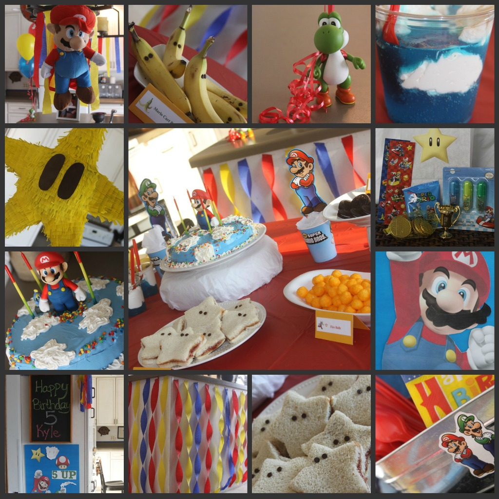mario birthday party complete