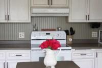 Kitchen Backsplash Using Beadboard Wallpaper- Transform ...