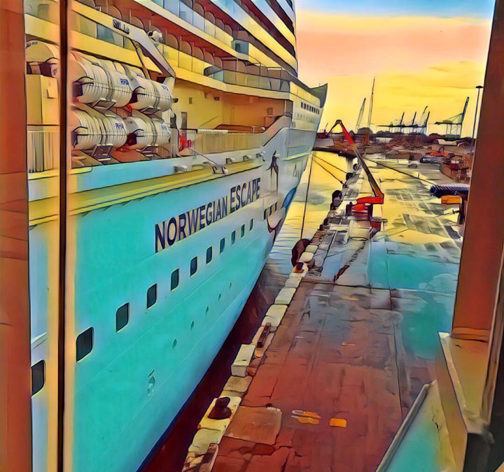 Norwegian Escape in the Port of Miami