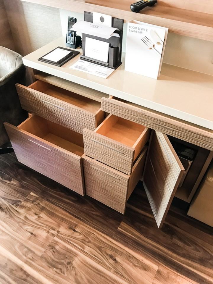 More storage in Haven Spa Suite