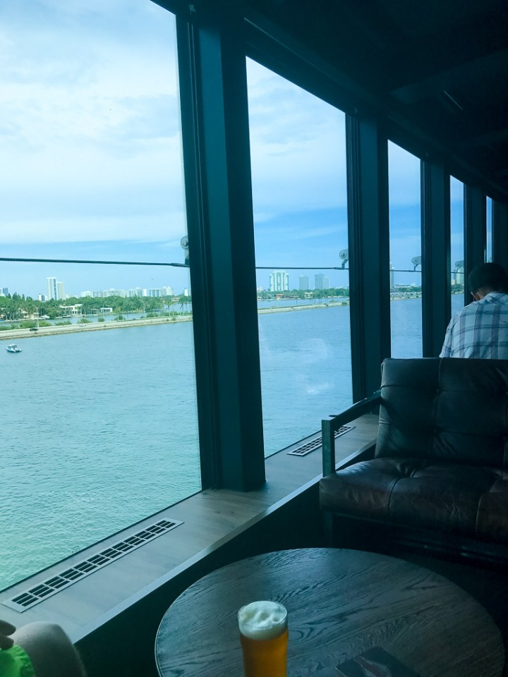 View of Miami from the District Brew House on Norwegian Escape