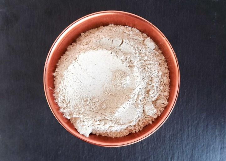 Whole wheat flour in copper pinch bowl from Target | asprinkleandasplash.com