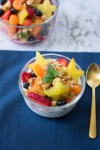 Meal Prep Fruit Salad in a bowl with yogurt and granola