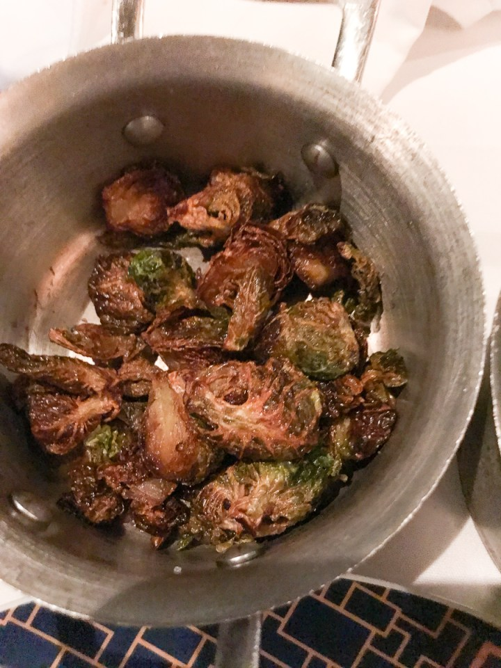 Roasted Brussels Sprouts in Cagney's Steakhouse