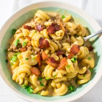 Instant Pot Bacon Cheeseburger Pasta