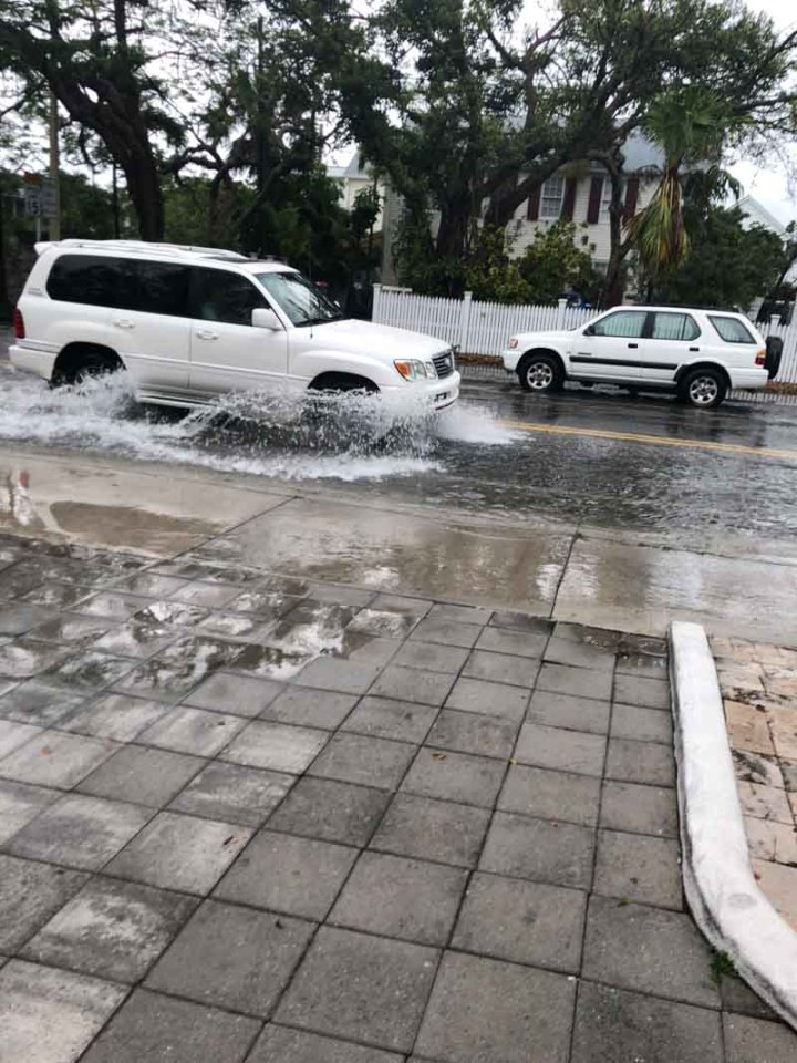 Flooding in Key West road
