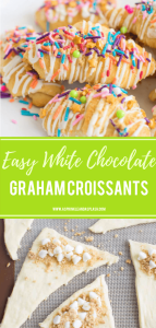 Easy White Chocolate Graham Croissants Pin Image