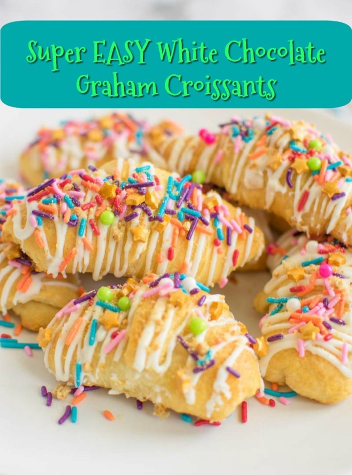 Easy White Chocolate Graham Croissants