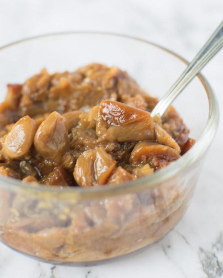 Roasted Garlic Spread in bowl | asprinkleandasplash.com