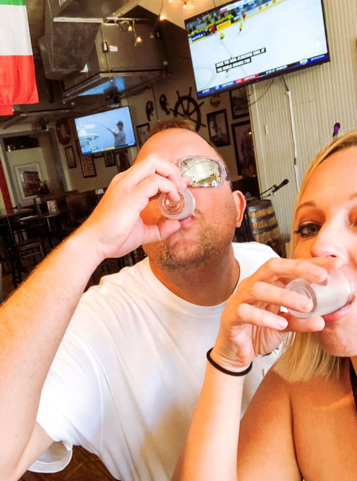 Drinking shots of the mystery punch in Duval Central bar