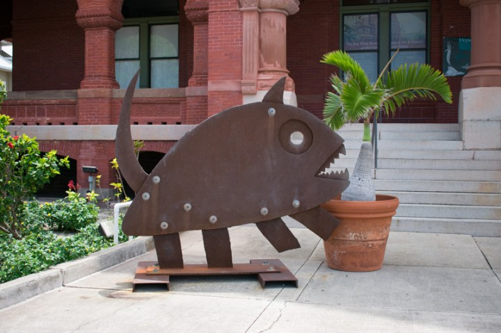 Sculpture in front of the Key West Art & Historical Society