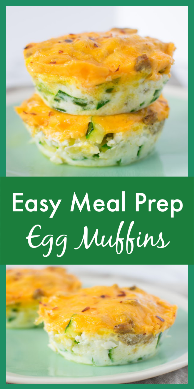 Easy Meal Prep Egg Muffins Pin Image