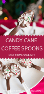 Candy Cane Coffee Spoons Pin Image