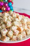 Plate of Christmas Shortbread Bites