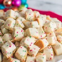 Plate of Christmas Shortbread Bites