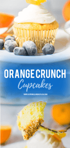Orange Crunch Cupcakes Pin Image