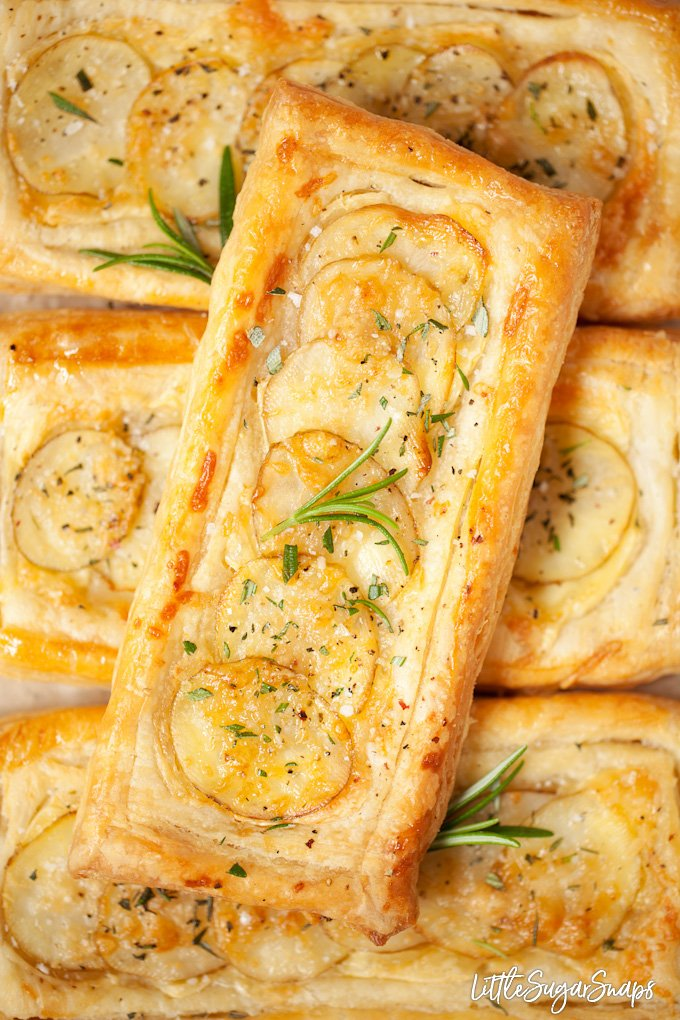 Brie and Potato Tarts with Easy Rough Puff Pastry