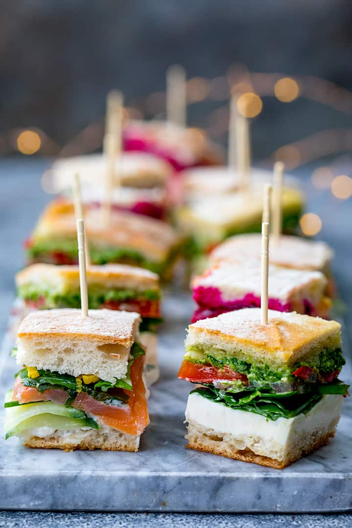 French pressed sandwich bites - posh sandwiches for your party table!