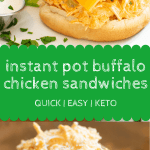 Instant Pot Buffalo Chicken Sandwiches Pin